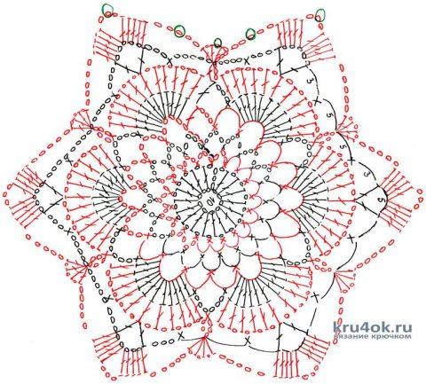 Туника крючком из мотивов. Работа Валентины Шишацкой вязание и схемы вязания