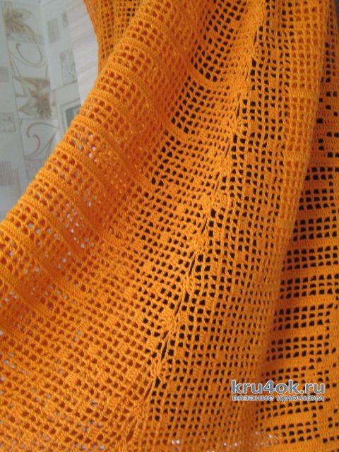 Туника Подсолнухи в филейной технике. Работа Ларисы вязание и схемы вязания
