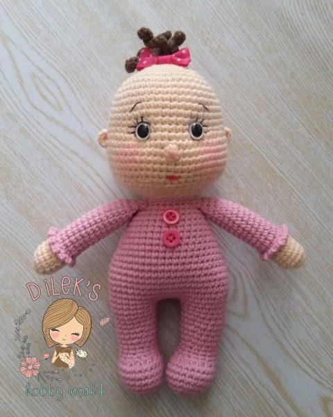 Вязаная кукла-пупс крючком