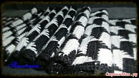 мужской шарф крючком Ферзь