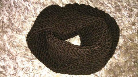 Мужской шарф-снуд крючком за 3 часа
