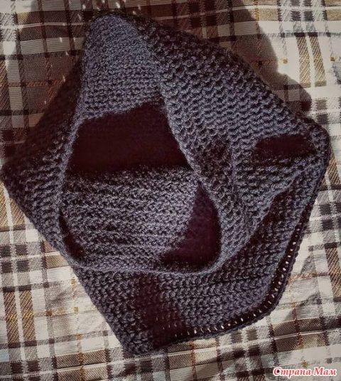 Как связать простой шарф-снуд крючком