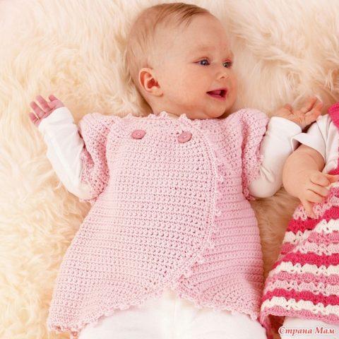 Описание и схемы вязания жакета для малыша