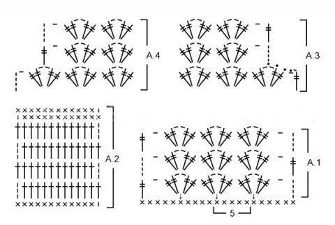 Схема вязания жилета из Дропс