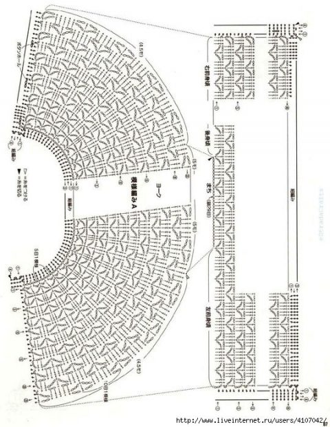 Ажурные схемы вязания жакета