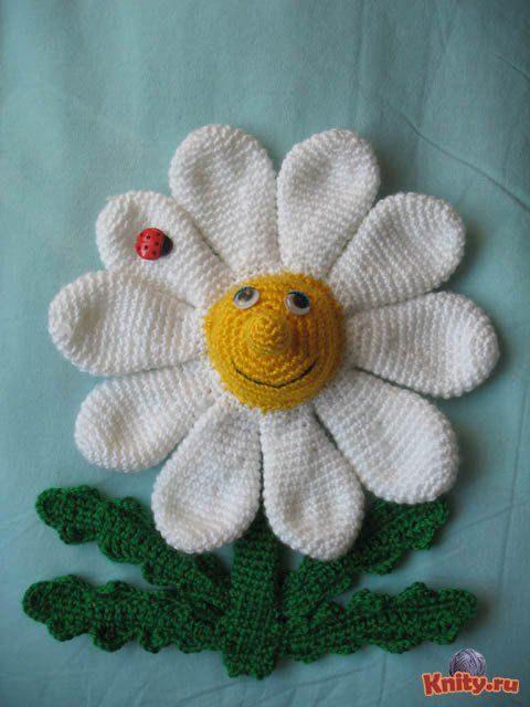 Мастер - класс цветок ромашка крючком