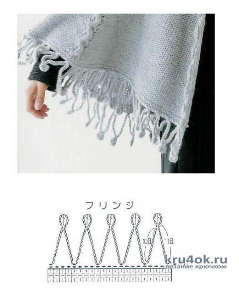 Схема вязания и обвязки шали