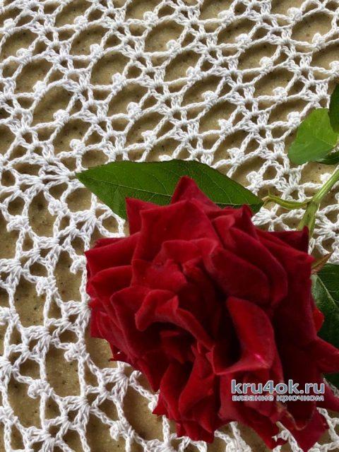Вязаная скатерть Филейная роза. Работа Надежды Борисовой вязание и схемы вязания