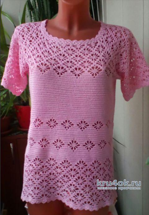 Вязанная кофточка крючком. Работа Наталии Павленко вязание и схемы вязания