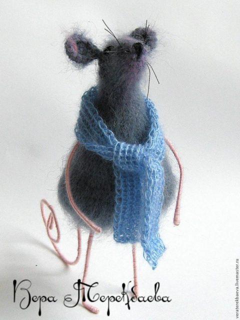 как связать мышь крючком