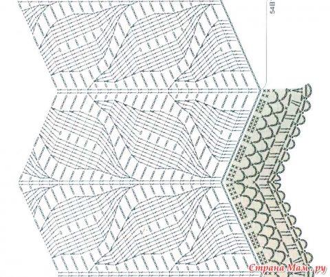 схема вязания палантина крючком