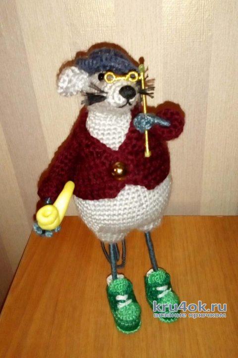 Мышь Шерлок, связана по мастер-классу Веры Терекбаевой вязание и схемы вязания