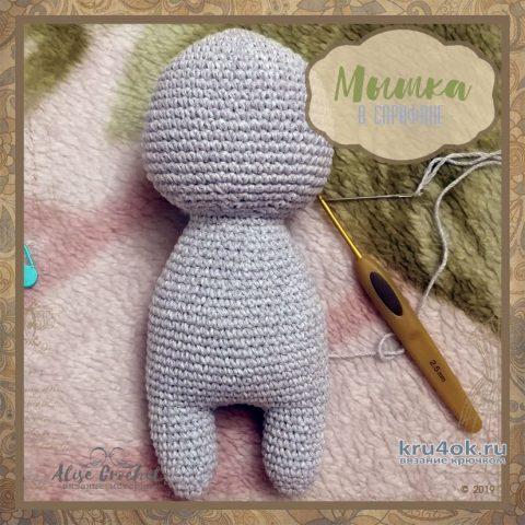 Мышка в сарафане, вязание крючком. Работа Alise Crochet вязание и схемы вязания