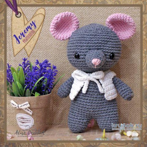 Мышонок Jeremy крючком. Работа Alise Crochet