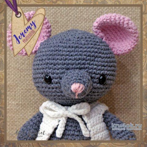 Мышонок Jeremy крючком. Работа Alise Crochet вязание и схемы вязания