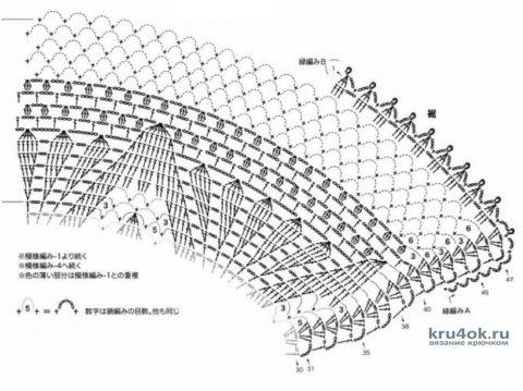 Шаль мятная связана крючком. Работа Марины Алексеевны вязание и схемы вязания