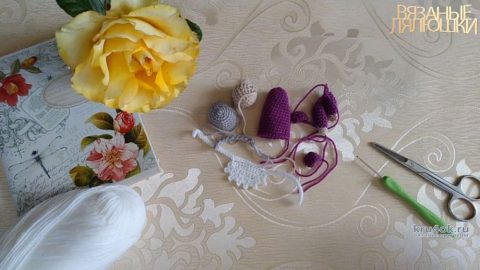 Вяжем крючком Бабку для пальчикового театра Репка вязание и схемы вязания
