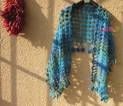 Ажурный шарфик с красивой каймой