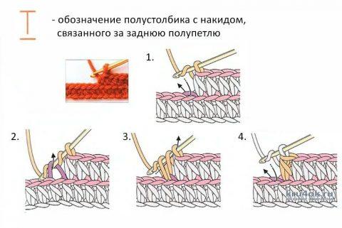 Детская манишка крючком, работа Марии вязание и схемы вязания