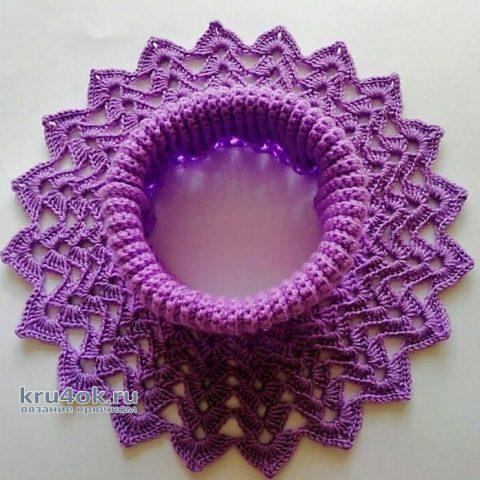 Манишка для девочки. Работа Марии вязание и схемы вязания