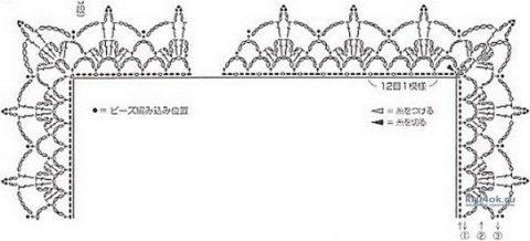 Вязаный палантин из мохера и шелка. Работа Мухиной Ольги вязание и схемы вязания