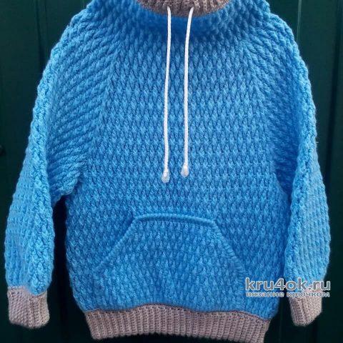 Вязаный свитер для мальчика. Работа Ольги Каштановой вязание и схемы вязания