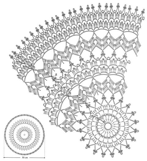 Схема вязания ажурная