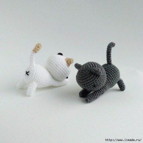 Как связать кота крючком 1