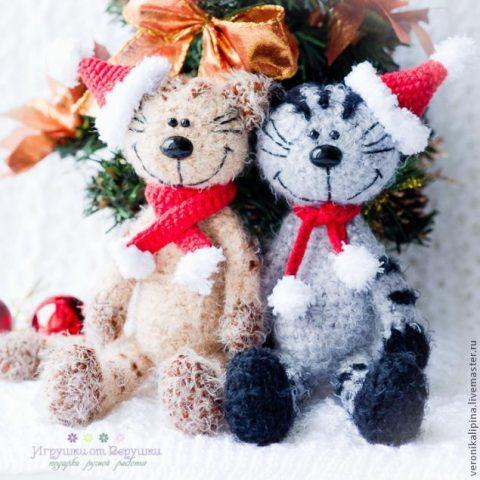 Новогодний кот Мурзик, описание для начинающих