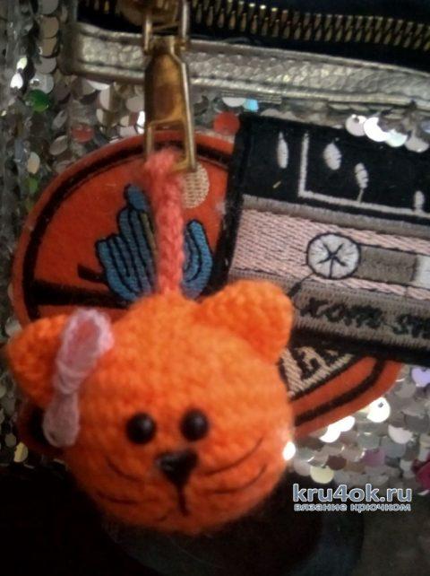 Брелок котик крючком. Работа Софьи вязание и схемы вязания