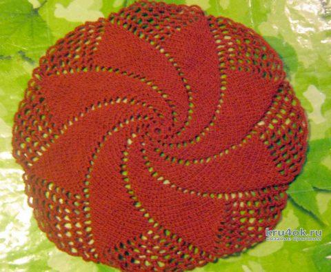 Спиральная салфетка крючком. Работа Татьяны Крас