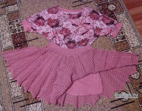 Женская юбка крючком. Работа Галины Лукериной