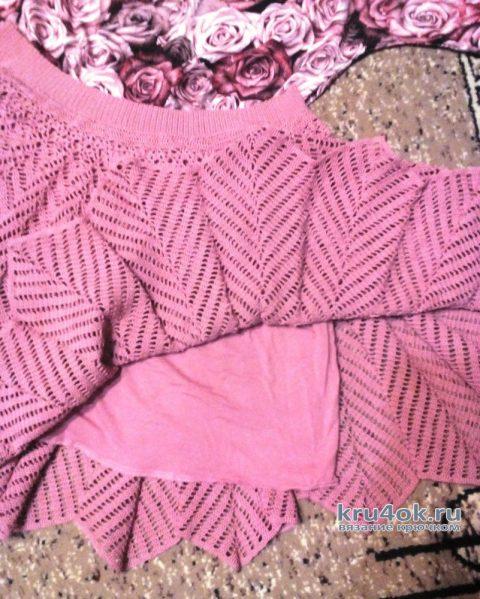 Женская юбка спицами. Работа Галины Лукериной вязание и схемы вязания