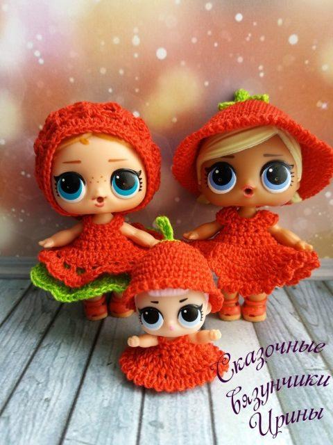 Сказочные вязунчики Ирины Хамидуллиной - одежда для кукол LOL /ЛОЛ