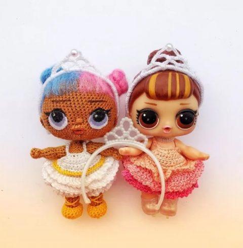 Куклы Лол крючком