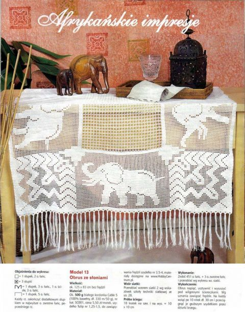 Прямоугольная скатерть со слонами