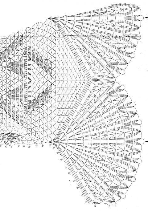 Круглая скатерть со схемой