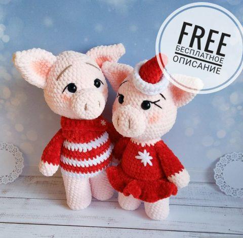 Плюшевые свинки - символ 2019 года!