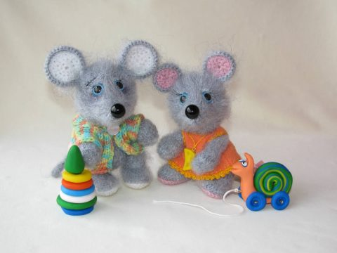 Crochet Mouse Tim - symbol of 2020