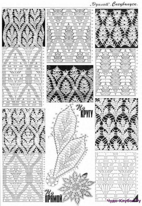 подборка схем для вязания длинной юбки крючком