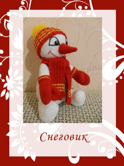 Снеговик крючком от Валентины Мамчич