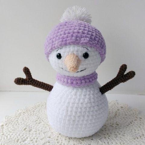Вязаный Снеговик крючком отЮлии Чебановой