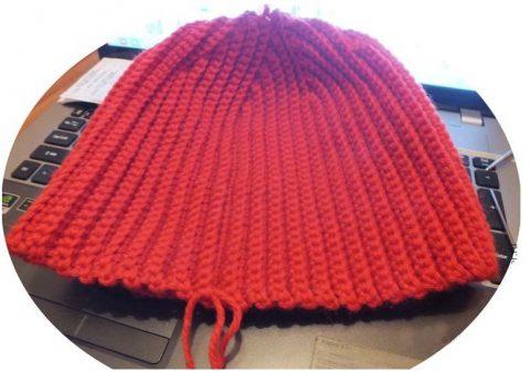 Простой способ соединительного шва крючком для шапки - бини