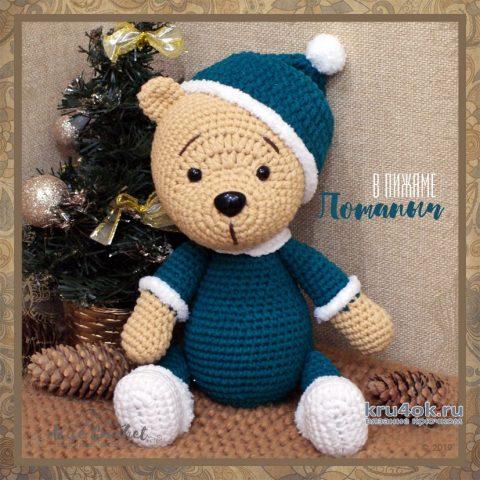 Мишка Потапыч в пижамке. Работа Alise Crochet вязание и схемы вязания
