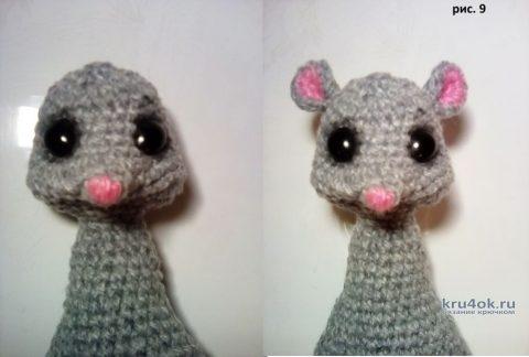 Мышка - норушка крючком (символ 2020 года). Работа DZ.toy вязание и схемы вязания