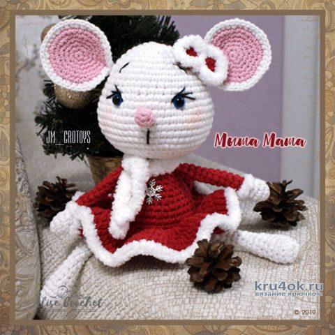 Мышка Маша, связанная крючком. Работа Alise Crochet вязание и схемы вязания