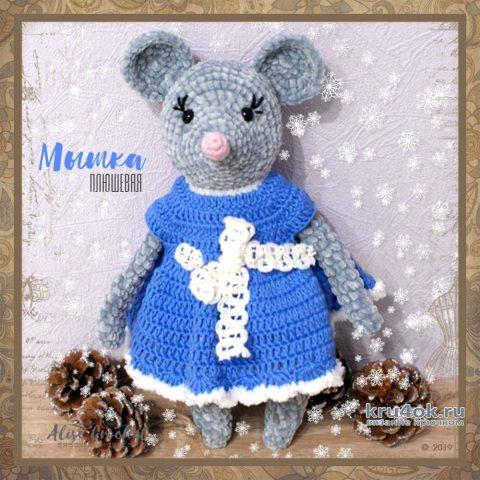 Плюшевая мышка крючком. Работа Alise Crochet