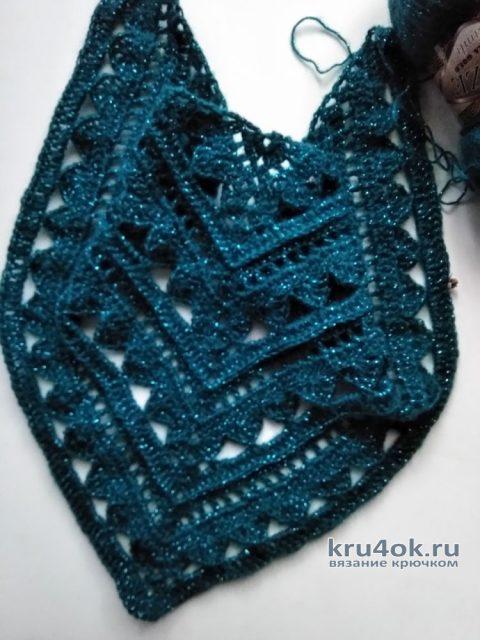 Вязанная крючком шаль. Работа Людмилы Ильичевой вязание и схемы вязания