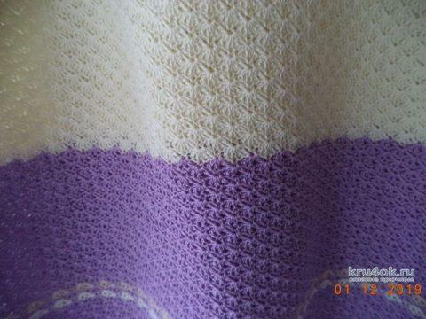 Женская туника крючком, работа Анны вязание и схемы вязания
