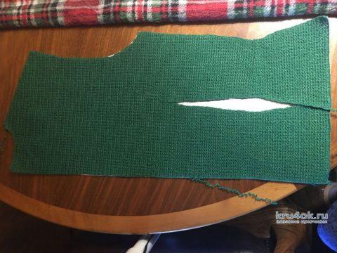 Женский жакет крючком. Работа Людмилы Максютовой вязание и схемы вязания